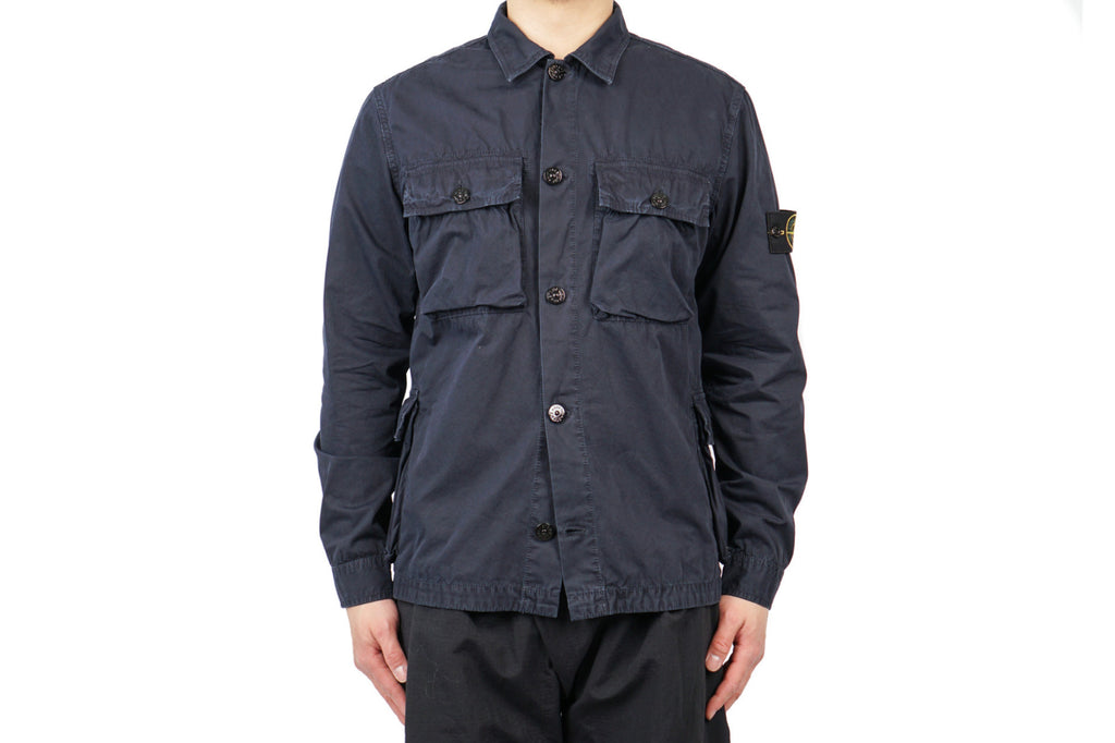 LS OVERSHIRT IN POLISHED COTTON CANVAS