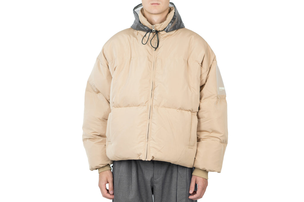"PATCHED DOWN JACKET ""BEIGE"""