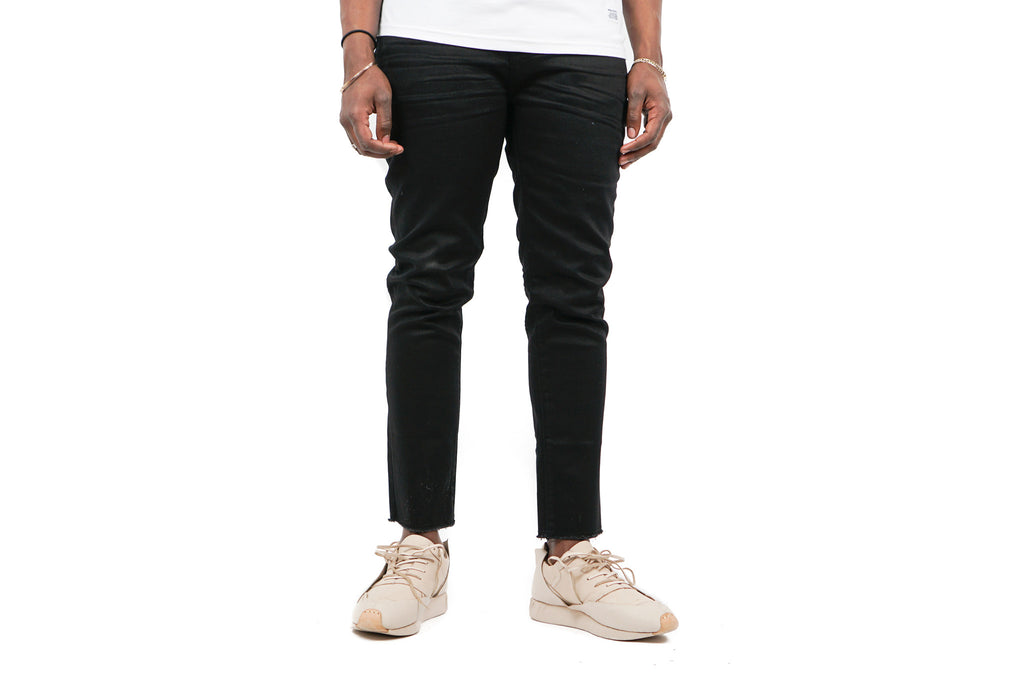 RESIN SLIM FIT CROPPED DENIM