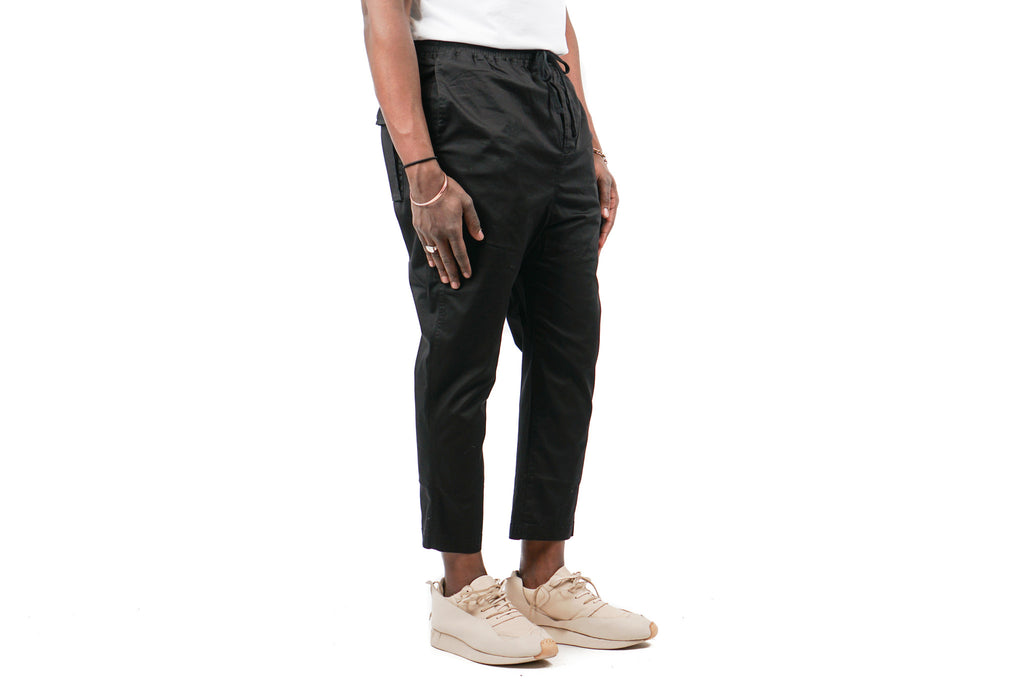"WASHED CROPPED CHINO ""BLACK"""