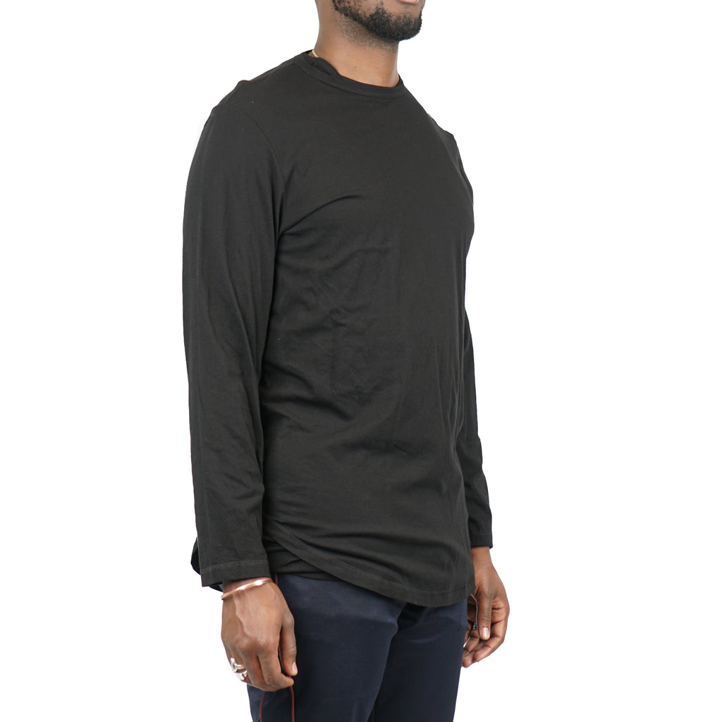 "SIGNATURE DOUBLE LAYER LS TEE ""BLACK"""