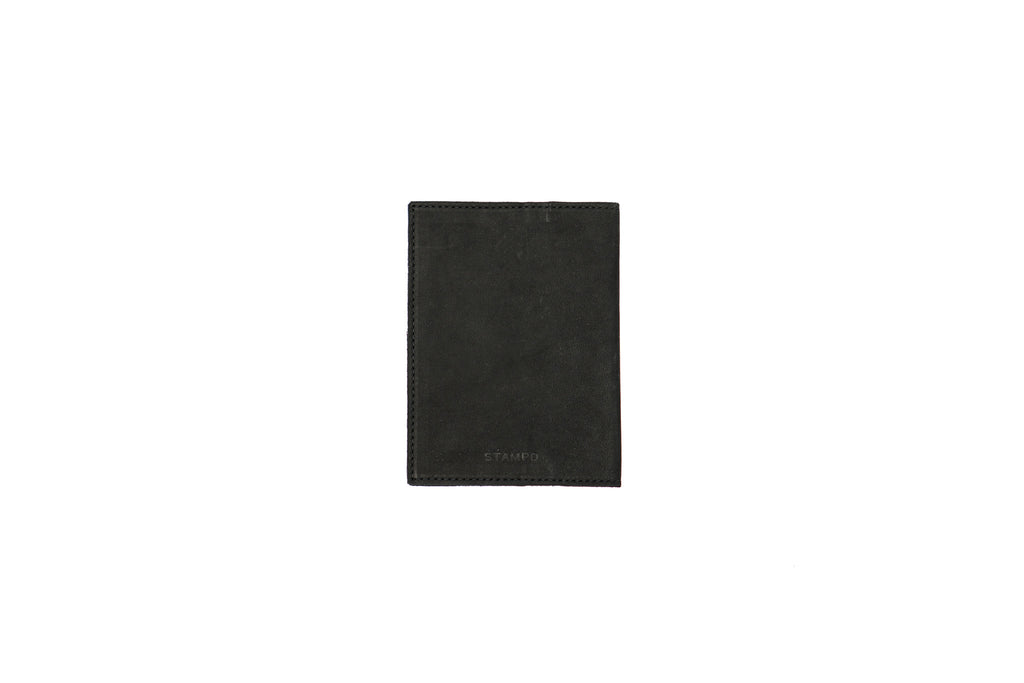 LEATHER MATTE BLACK PASSPORT WALLET