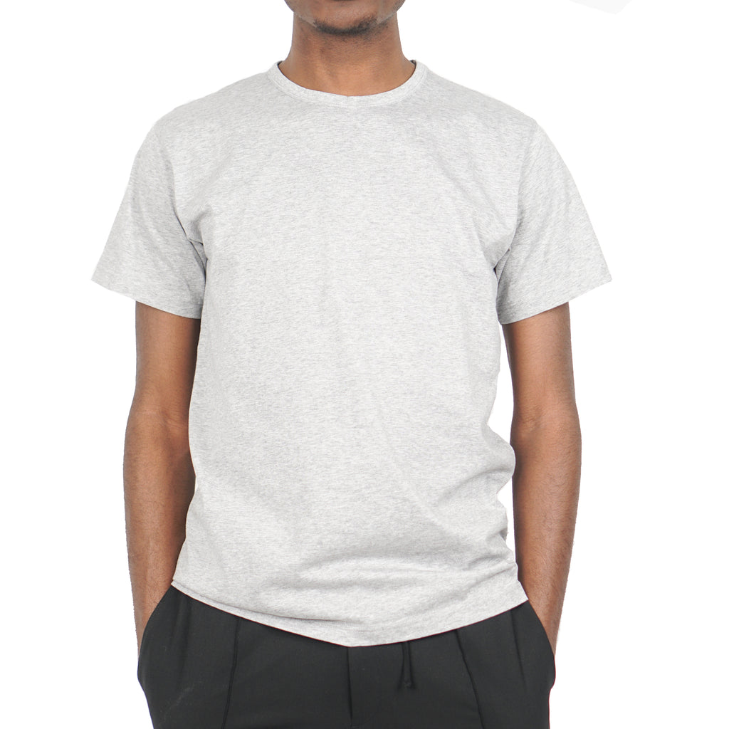 "JESPER MERCERIZED TEE ""LIGHT GREY MELANGE"""