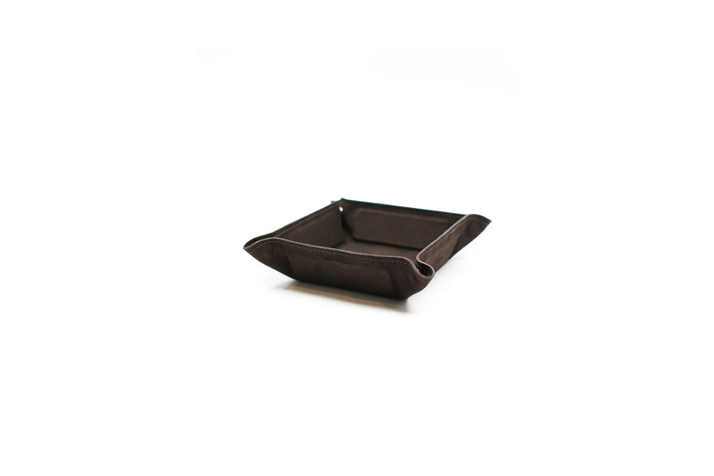 "DESK TRAY (SUEDE) ""BROWN"""