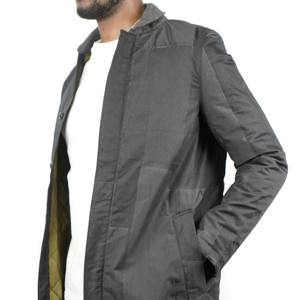 "PATCHWORK MILITARY INNER DOWN COAT ""BLACK"""
