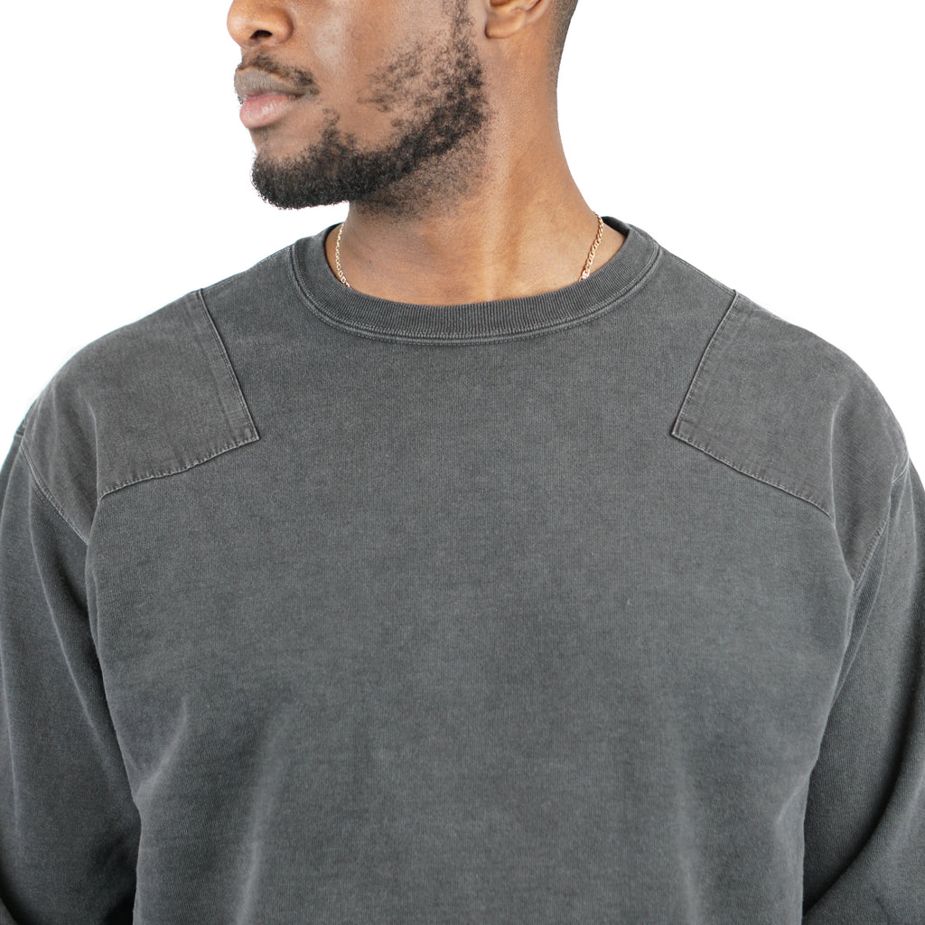 "SP FINISHIRT FLEECE MILITARY CREW ""BLACK"""