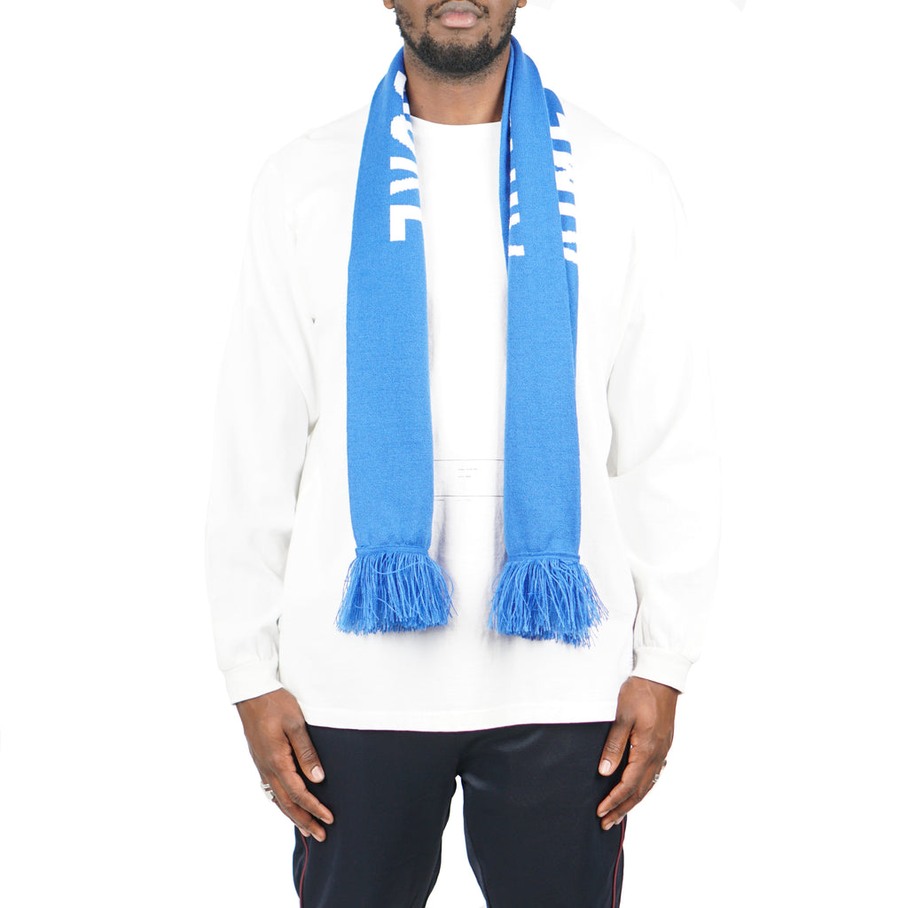 "KNIT LOGO SCARF ""FRENCH BLUE"""