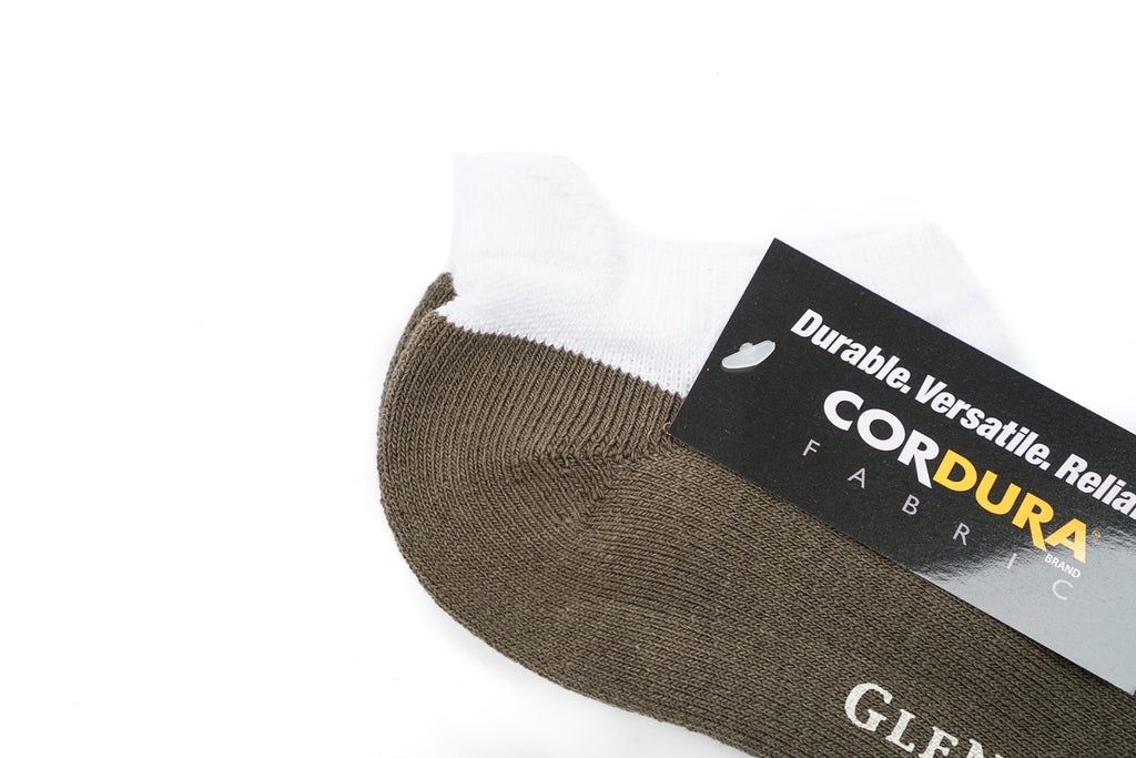 "GLEN CLYDE ANKLE CODURA ""WHITE/OLIVE"""