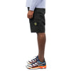 "GARMENT DYED COTTON CANVAS BERMUDA CARGO SHORTS ""BLACK"""