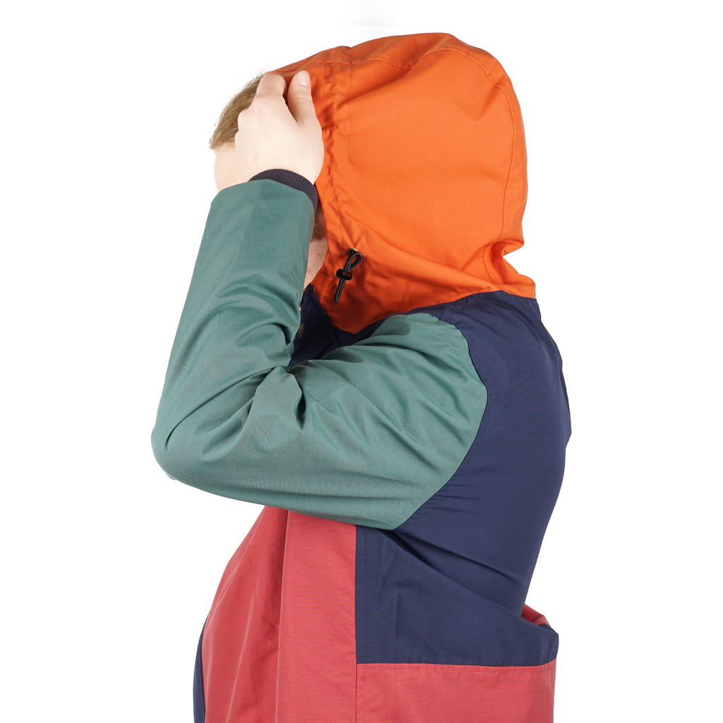 COLOR BLOCKED PARKA