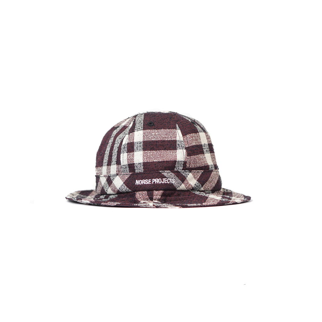 "HEAVY CHECK CHARTER HAT ""BURNED RED"""