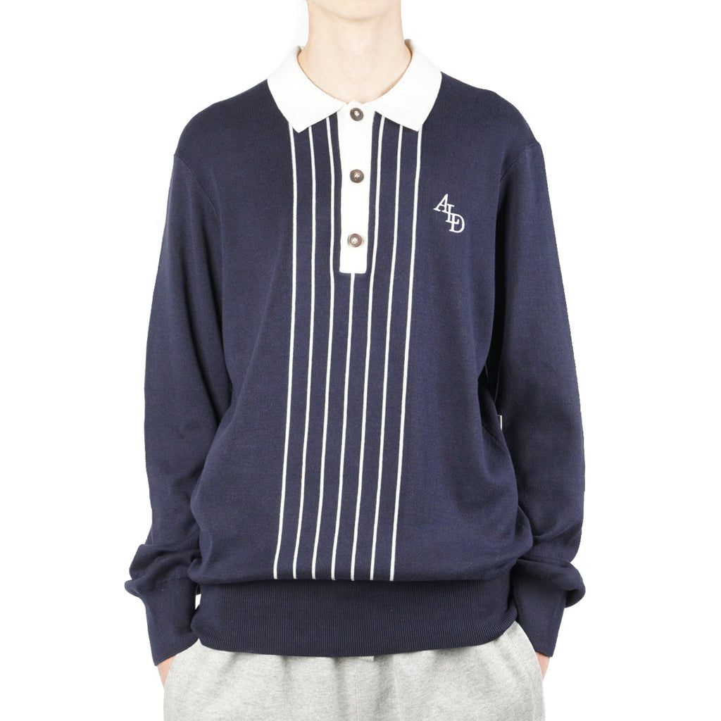 LS STRIPE KNIT RUGBY