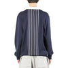 "LS STRIPE KNIT RUGBY ""MIDNIGHT"""