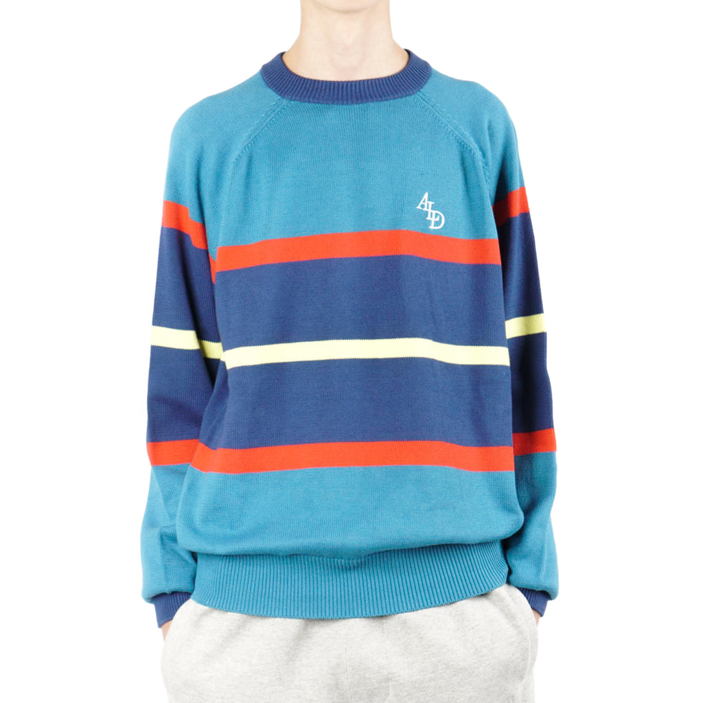 STRIPE MONOGRAM KNIT CREWNECK