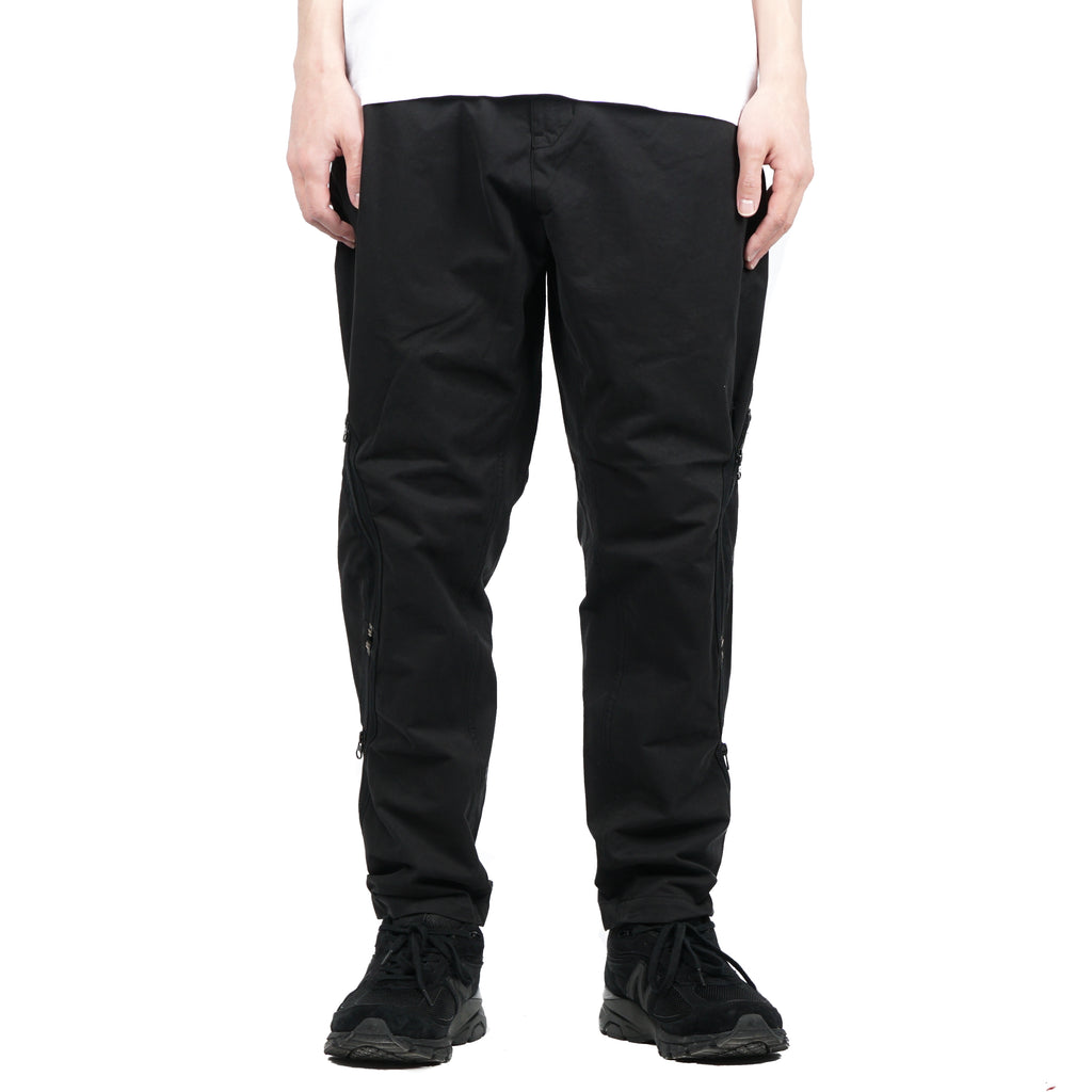 ADJUSTMENT ZIP UP TROUSERS (BRUSHED COTTON SATIN)
