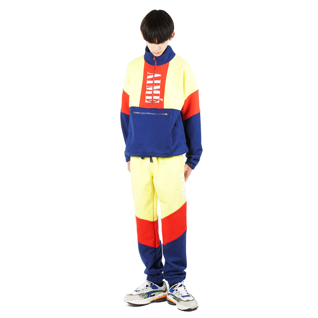 COLOR BLOCKED QUARTER ZIP PULLOVER