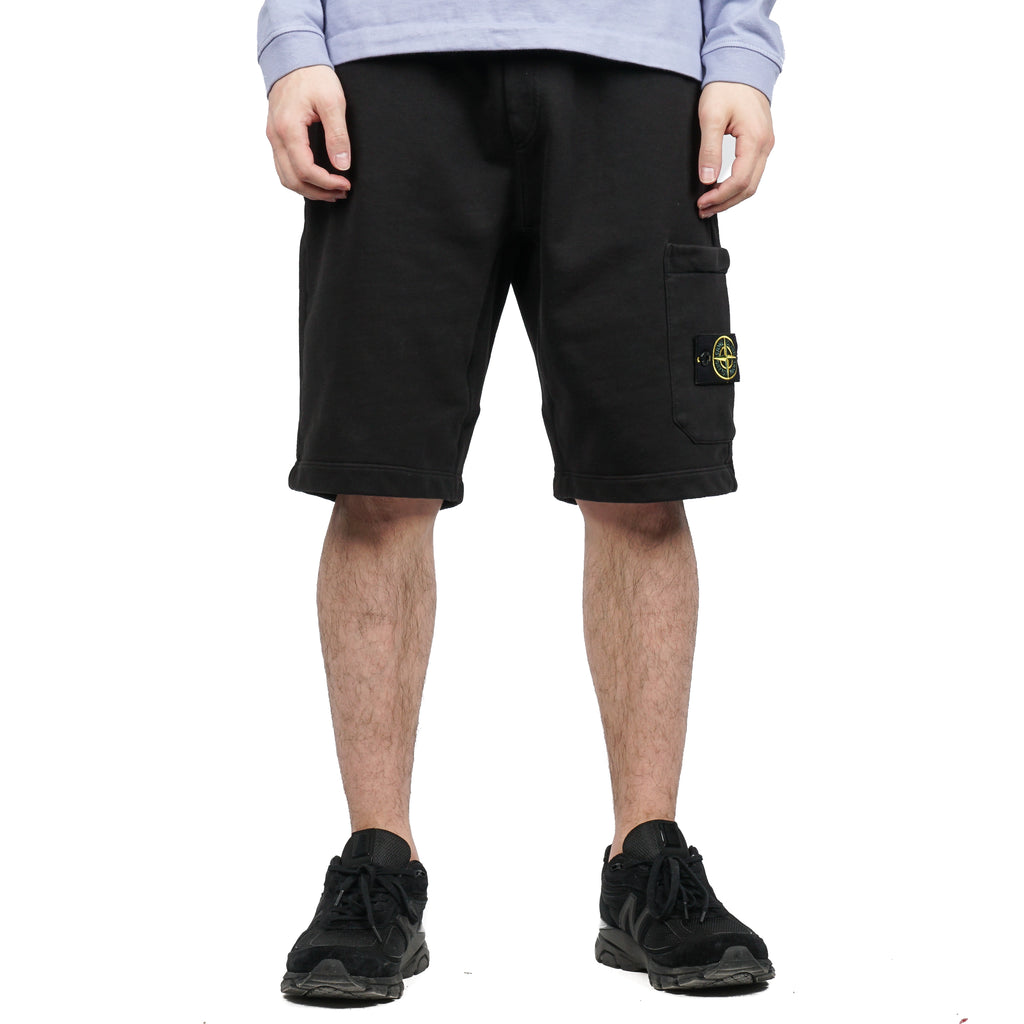GARMENT DYED COTTON FLEECE BERMUDA SHORTS