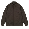 "GHOST PIECE STRETCH COTTON WOOL SATIN OVERSHIRT ""BROWN"""