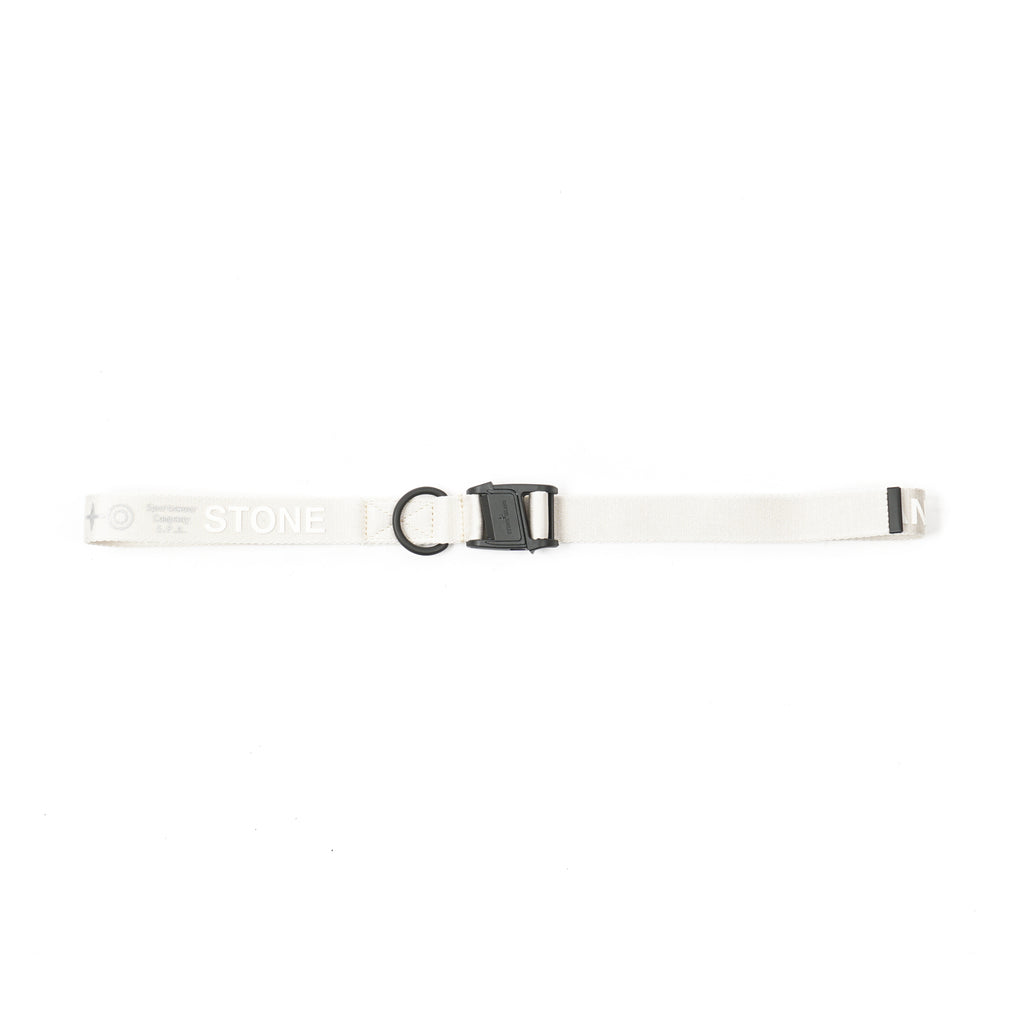 "MAGNETIC BUCKLE NYLON TAPE BELT ""IVORY"""
