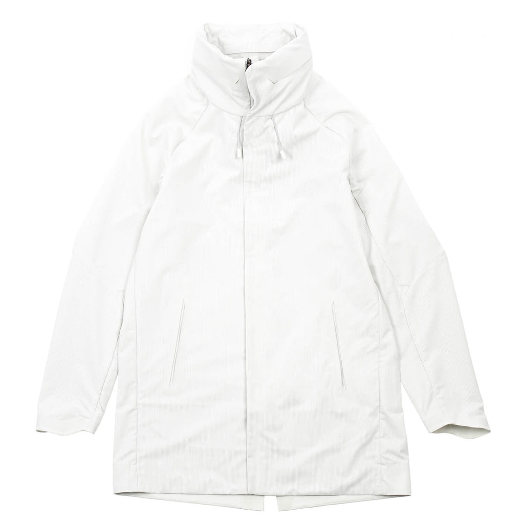 "SCHEMATECH AIR STACK HOODED COAT ""PLANETARY WHITE"""