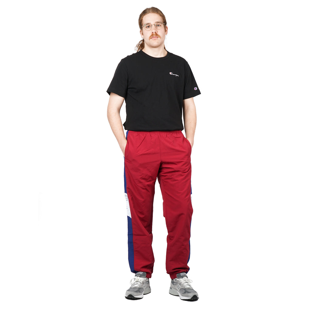 "CRINKLE FEEL TRACK PANTS ""MULLED BERRY"""