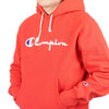 "HOODED SWEATSHIRT W/ FULL CHEST LOGO ""SIDELINE RED"""