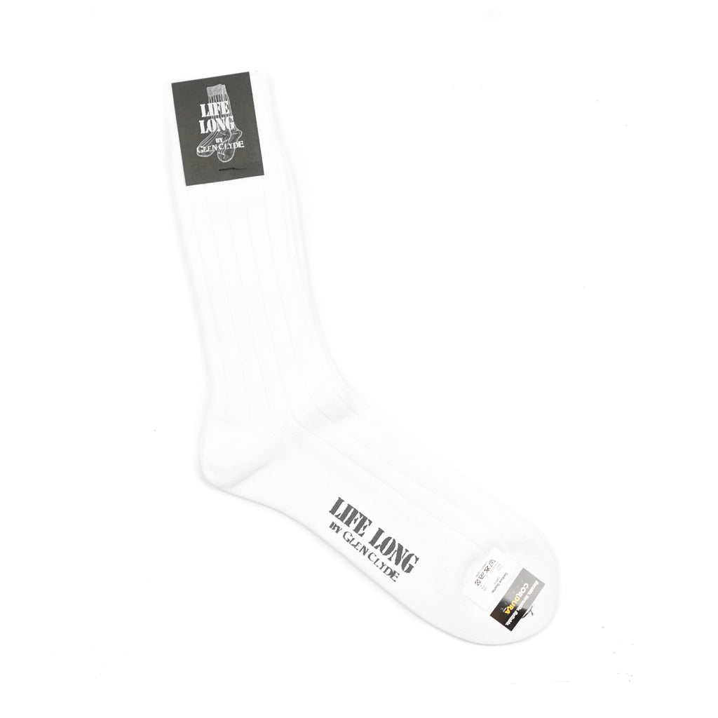 "LIFE LONG CORDURA CREW SOCKS ""WHITE"""