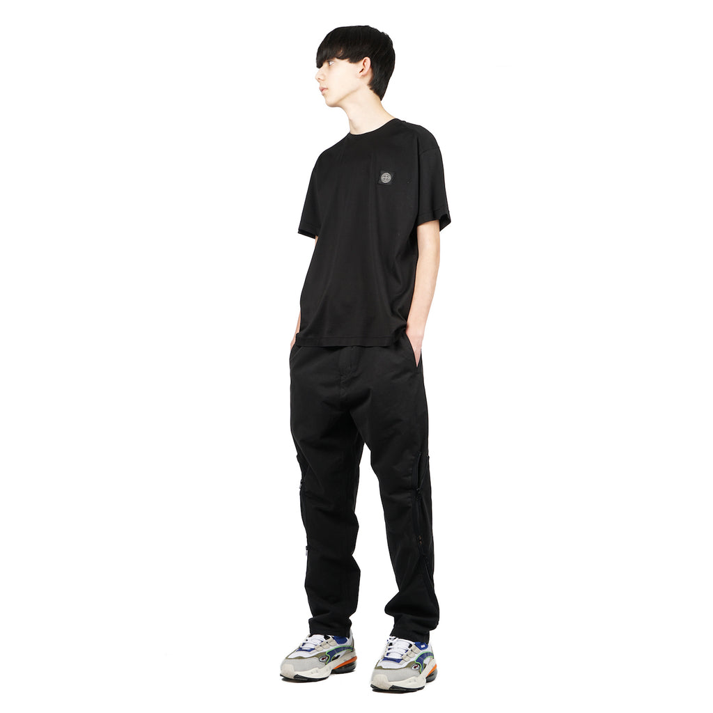 "SHORT SLEEVE COTTON JERSEY TEE ""BLACK"""