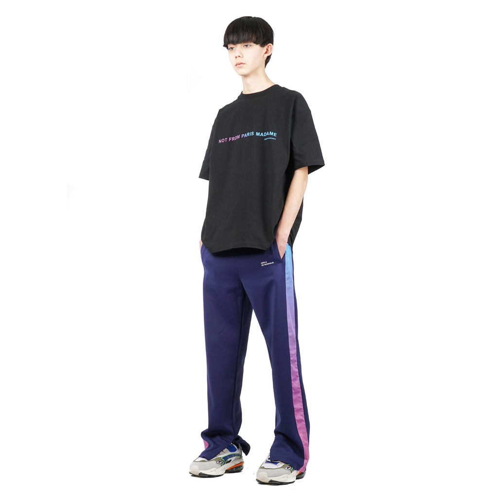 SHADED SATIN TRACK PANTS