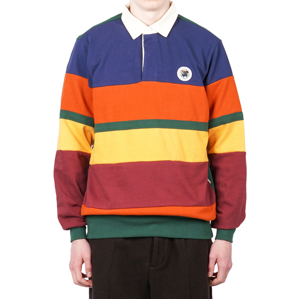 COLOR BLOCKED RUGBY SHIRT