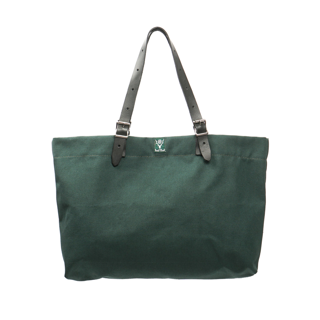 "CANVAS CANAL PARK TOTE ""HUNTER GREEN"""