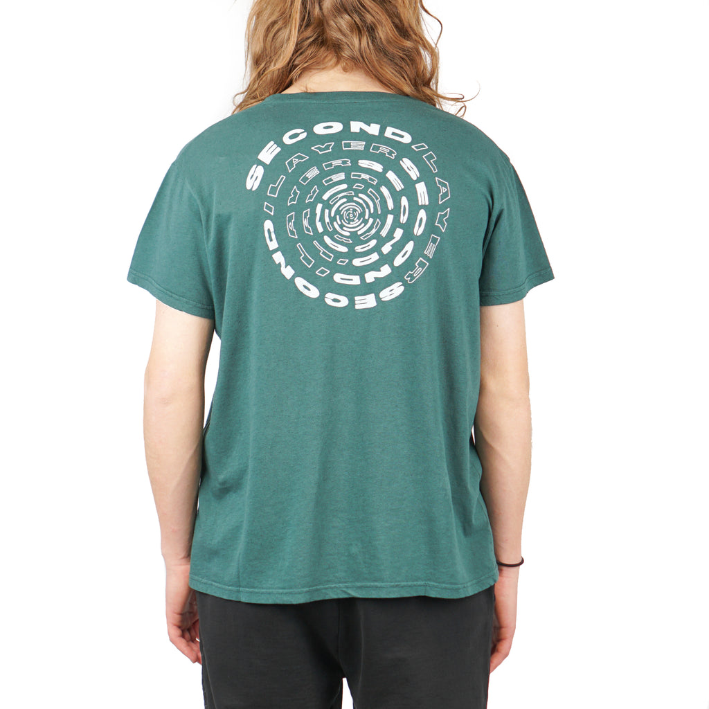 "SPIRAL POCKET T SHIRT ""DARK GREEN"""