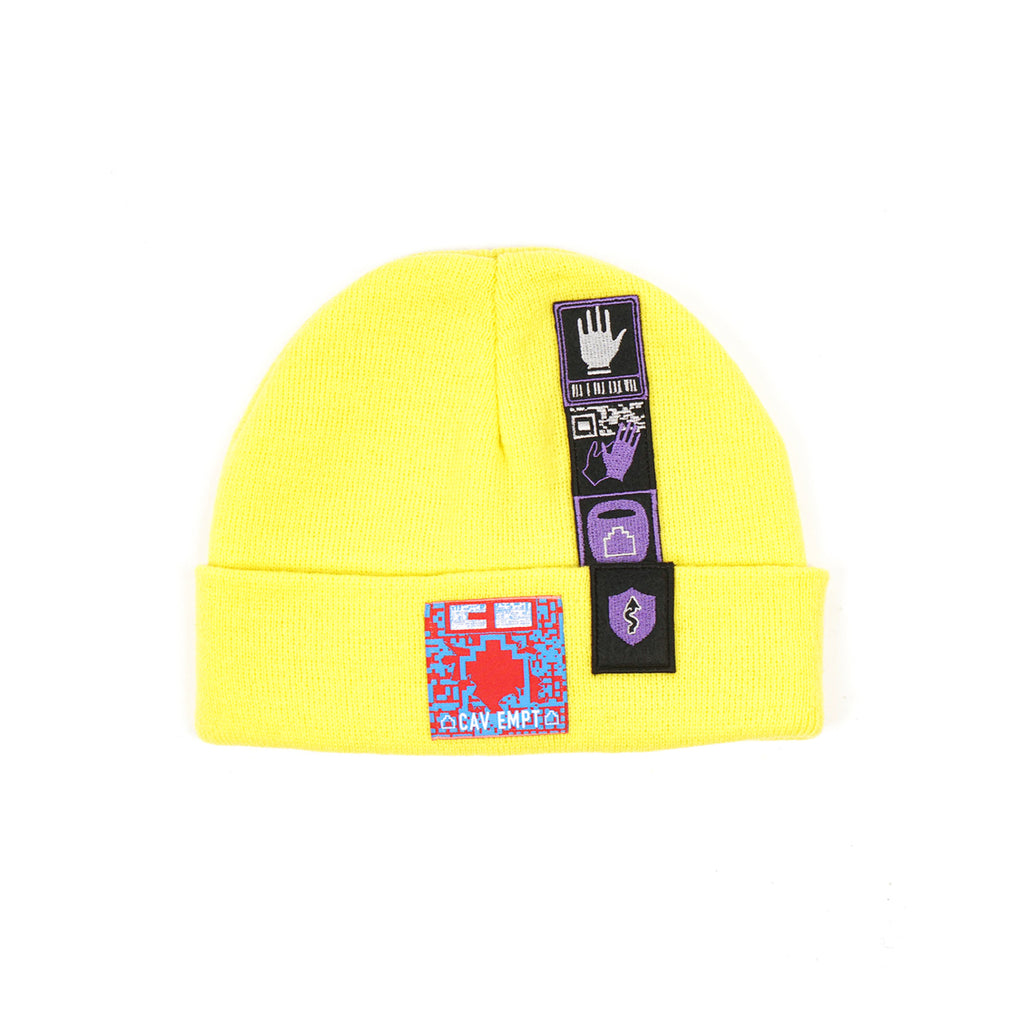 "PATCHED KNIT CAP ""YELLOW"""