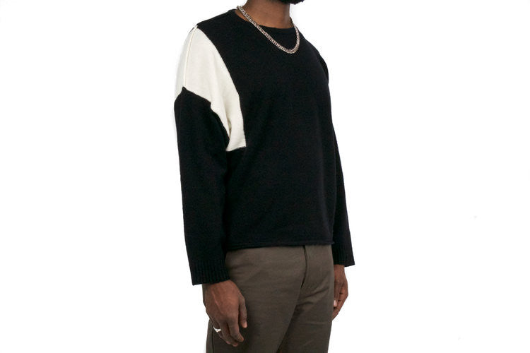 "RIV SWEATER ""BLACK / WHITE"""