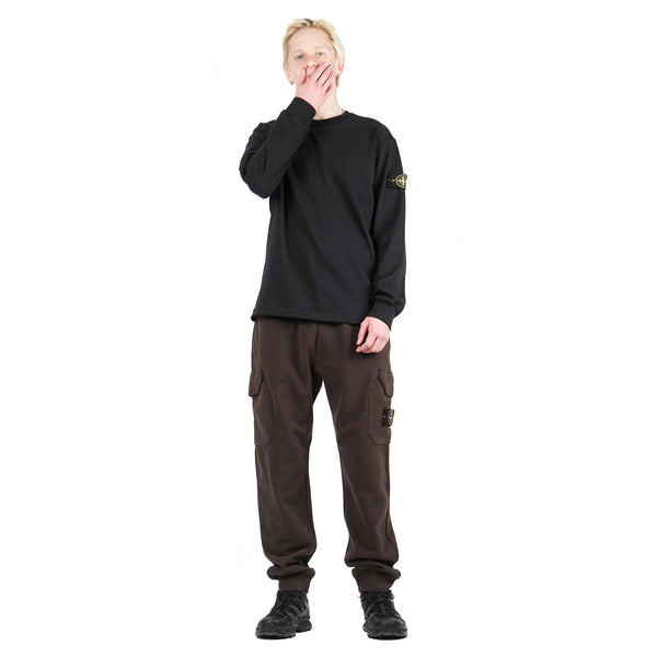 GARMENT DYED CARGO SWEATPANTS IN BRUSHED COTTON FLEECE