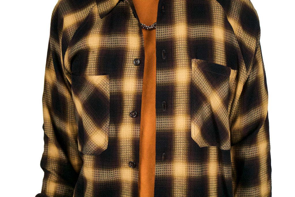 "RAGLAN FLANNEL ""GOLD SHADOW PLAID"""
