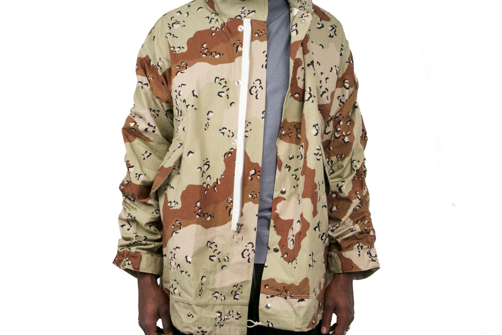 CROPPED MILITARY PARKA