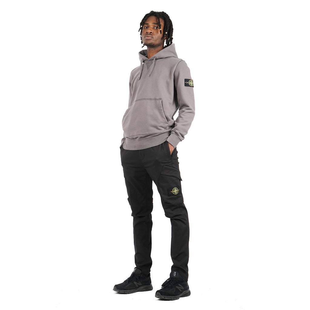 COTTON FLEECE HOODED SWEATSHIRT