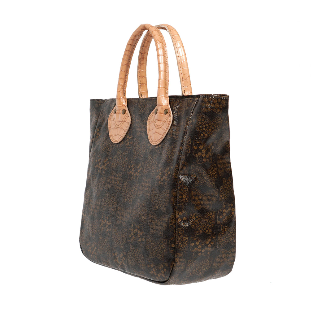 LEATHER HANDLE SMALL TOTE