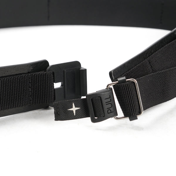 LEATHER AND POLYAMIDE BELT