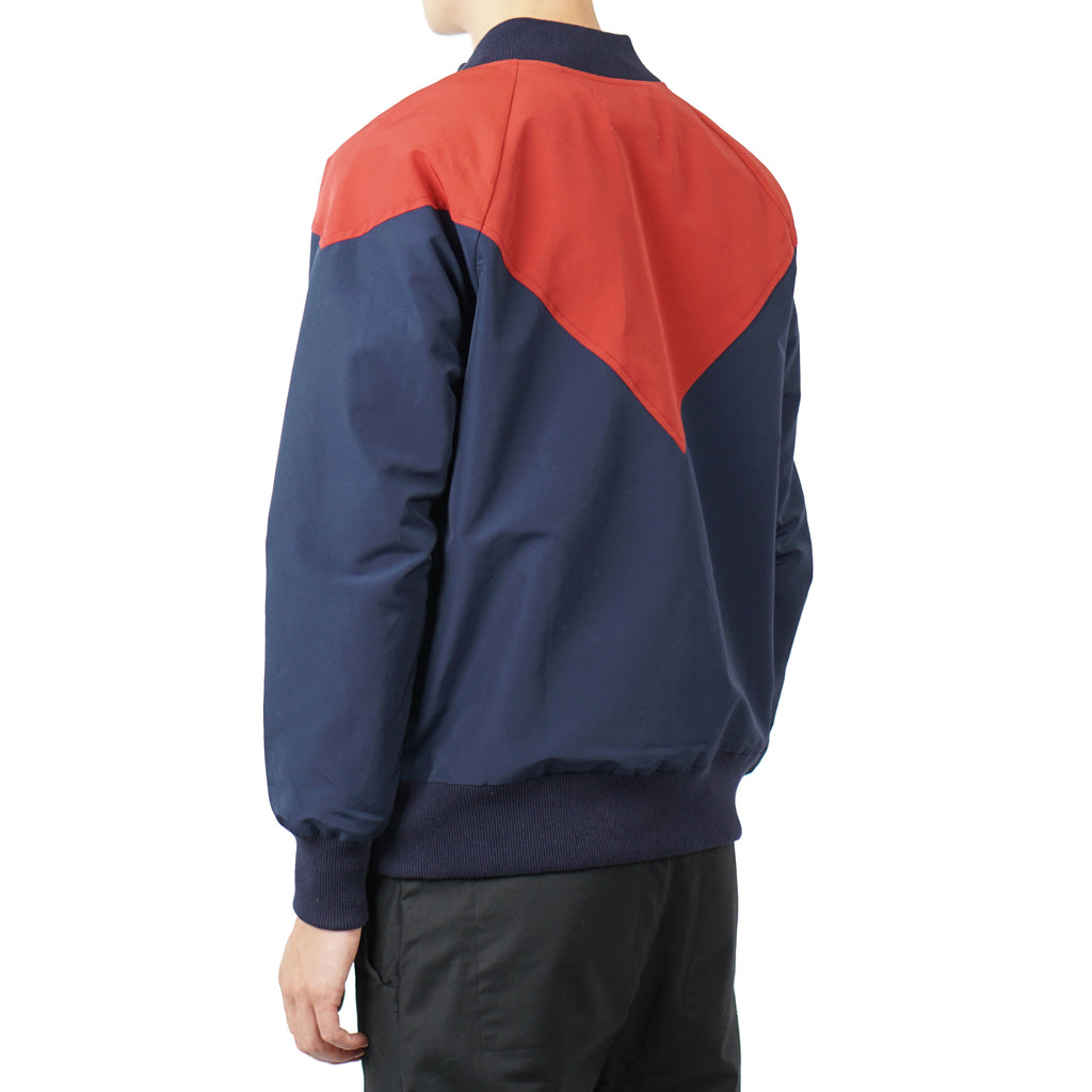 "WATER-REPELLENT PULLOVER ""NAVY/RED"""