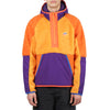 "1/2-ZIP SHERPA HOODIE ""KUMQUAT/COURT PURPLE/STARFISH"""