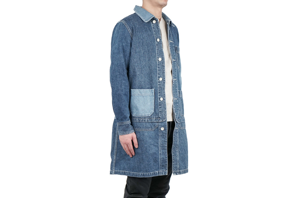 "GRUNGE COVERALL JACKET (REMAKE) ""USED BLUE"""