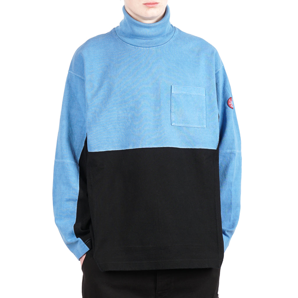 OVERDYE TURTLE NECK LONG SLEEVE TEE