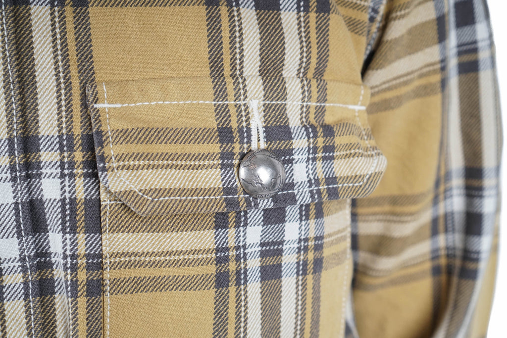 "12OZ CPO CHECK JACKET ""YELLOW"""