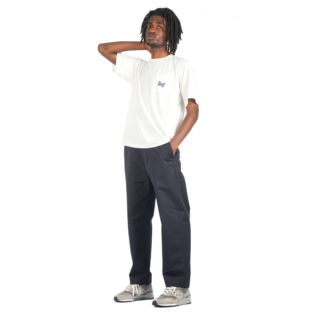 "EASY PANTS WITH DOUBLE JET ""DARK NAVY"""