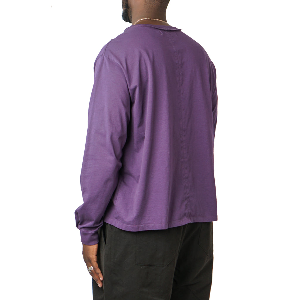 "LONG SLEEVE NO POCKET TEE ""EGGPLANT"""