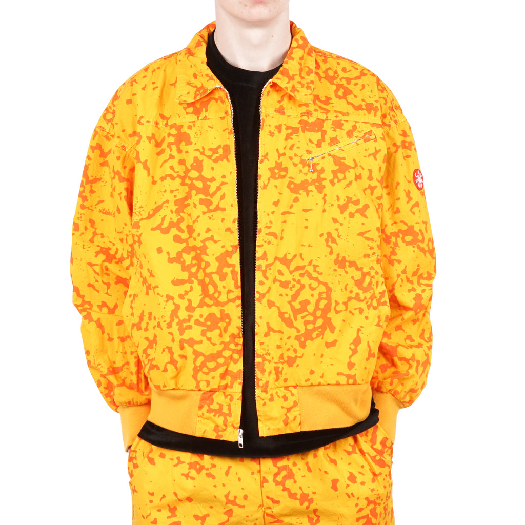 COLOUR-NOISE PRINT ZIP UP JACKET