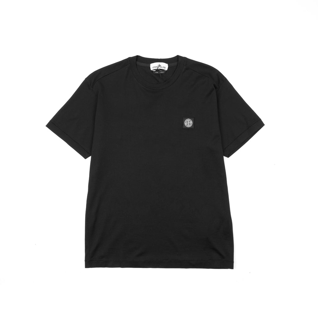 "GARMENT DYED MERCERIZED COTTON JERSEY SS TEE SHIRT ""BLACK"""