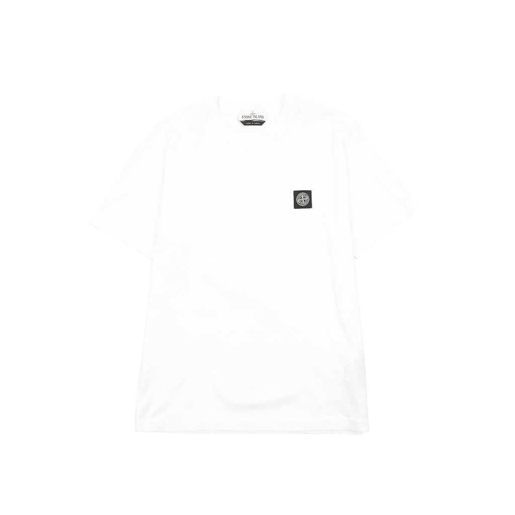 "GARMENT DYED MERCERIZED COTTON JERSEY SS TEE SHIRT ""WHITE"""